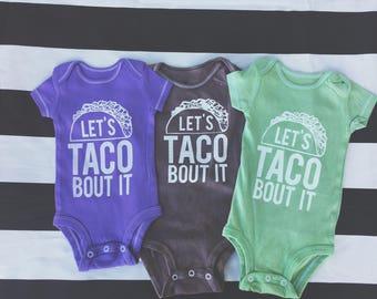 Lets Taco Bout It Short Sleeve Bodysuit