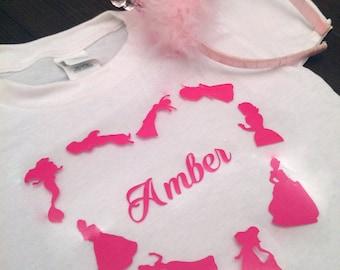 Personalized Disney Princess shirt/Disney princesses