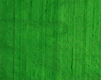 Green Dupioni Silk Fabric
