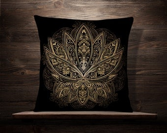 lotus tattoo etsy. Black Bedroom Furniture Sets. Home Design Ideas