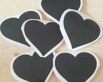 12 Heart chalkboard sticker-sticker-jar-jar-chalk-kitchen-tag-wedding-label-chalk board-herbal