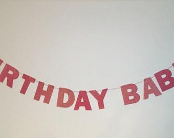Birthday Babe Sparkly Glitter Banner
