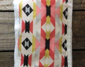 Burp Cloth | Pink | Black | Gold | Aztec