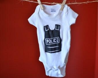 Police Bullet Proof Vest Onesie