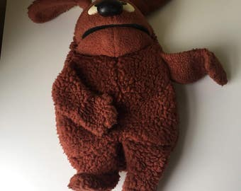 1977 Fisher Price The Muppets Rowlf the Dog hand puppet plush Jim Henson