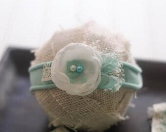 Newborn Tieback Headband- Newborn Tieback - Tieback - Headband - Baby Tieback - Baby Headband - Newborn Halo - Baby Halo - Newborn Girl