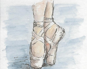 Ballet Shoes Notecards - Greetings Card - Blank