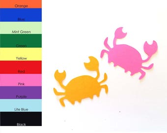 25 Pack - Paper Crab Shapes, Crab Shape Die Cuts, Crab Shape Cut Out, Paper Crafting, Sea Animal Shapes