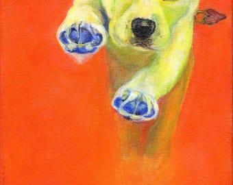 BUDDY -Who Rescued Who? Dog Art  Contemporary Dog Art Modern Dog Art  Labrador Art