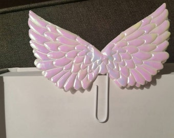 Angel Wings Planner Clip - Embellished Office Clip