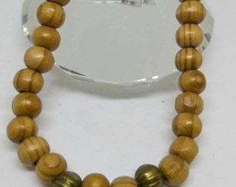 Gold pharaoh wooden bracelet