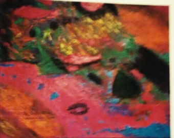 Acrylic Abstract Painting Original Artwork on 20 x 16 Canvas