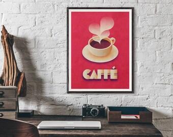 Coffee Retro Poster Art Print