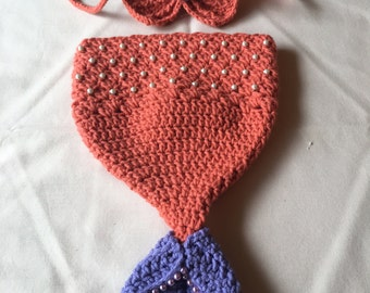 Newborn/Baby Crochet Mermaid Tail and Top