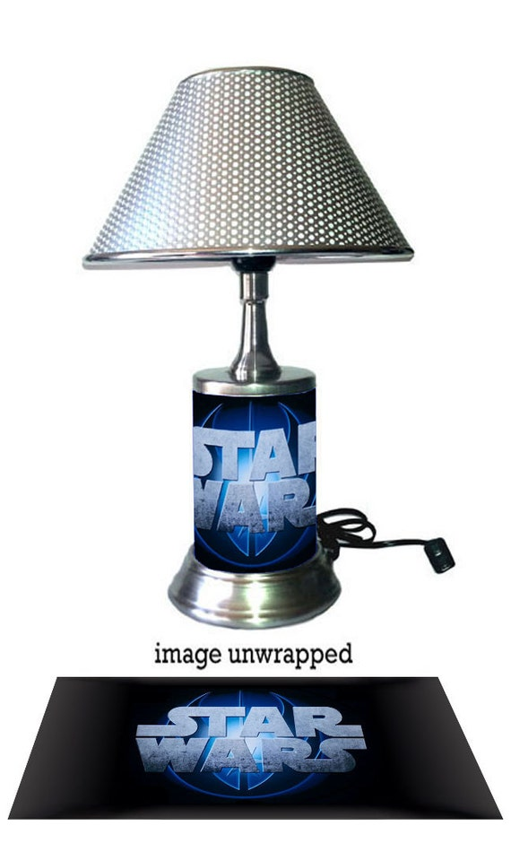 Star Wars Lamp with chrome shade