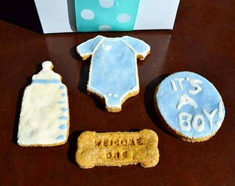 Dante's Welcome Puppy Cookie Box /Healthy Dog Treats /Puppy Gift /Dog Cookies /Organic Dog Treats /Dog Lover Gift /Baby Shower Gift
