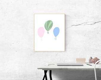 Hot Air Balloons Print Digital Download