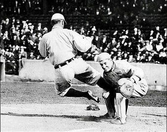 Rare Ty Cobb Baseball HOF Superstar 8 x 10 Promo Photo Print