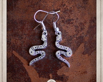 Snake earrings silver BOA038