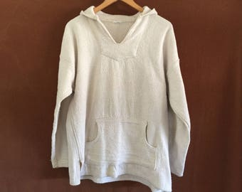 Vintage thick natural cotton hoodie