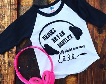 Garth Brooks, Luke Bryan, & Dierks Bentley Baby or Toddler Tshirt, Raglan