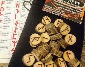 Elder Futhark Wooden Rune Set