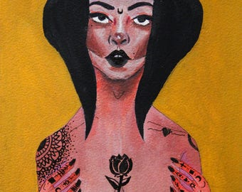 Tattoo Goddess A4 Matte Print