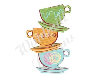 Tea Time! - Machine Embroidery Design
