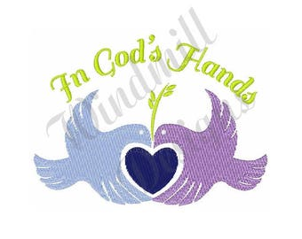 In Gods Hands - Machine Embroidery Design