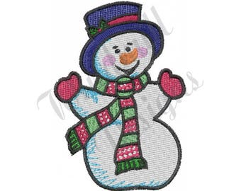 Christmas Snowman - Machine Embroidery Design