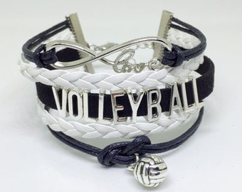 Volleyball Bracelet, Volleyball Jewelry, Volleyball Mom, Volleyball Charm, Volleyball Coach, Volleyball Team Gift, Volleyball Valentine