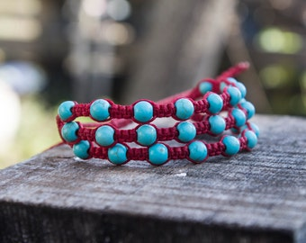 Turqoise macrame bracelet!