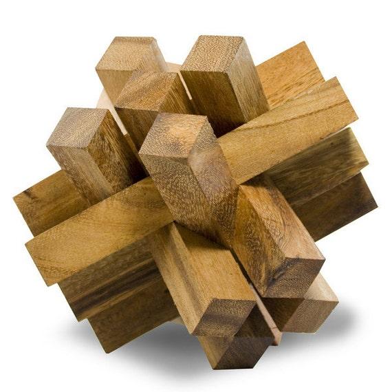 IQ Master Cursed Bricks - Big Wooden Puzzle - Brain Teaser