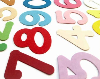 Die Cut Numbers, High Quality Cardstock Paper Shapes for Cardmaking, Scrapbooking & Paper Decorations, Pack of 30 (0-9 Numbers)