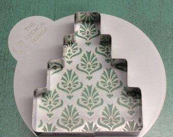 Baroque Wedding Cake Cookie Cutter & Stencil Set
