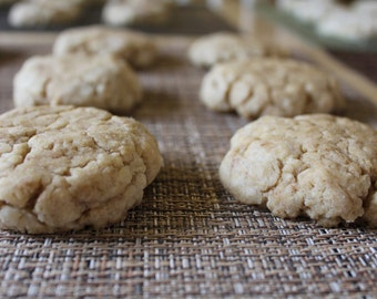 Two Dozen Vanilla Bean Protein Cookies- Vegan, Vegetarian, Gluten Free, Sugar Free, Paleo, Clean Eating