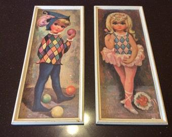 Pair of Vintage Framed Goji Prints