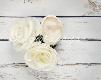 White Rose Egg Digital Background / Backdrop Newborn Photography Immediate Download JPG file / Egg Backdrop