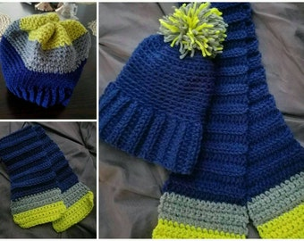 Small child hat and scarf set