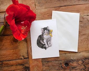 Watercolor Catl Postcard Set