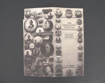 1984 Democratic Convention Pocket Docket
