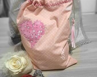 Bag 100% cotton pink