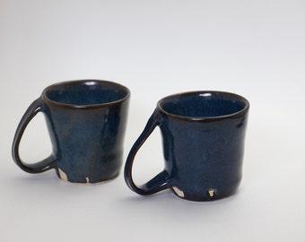 Upside down handled mug set of two