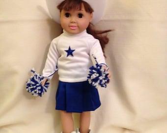 "18"" doll (Am Girl) cheerleader"