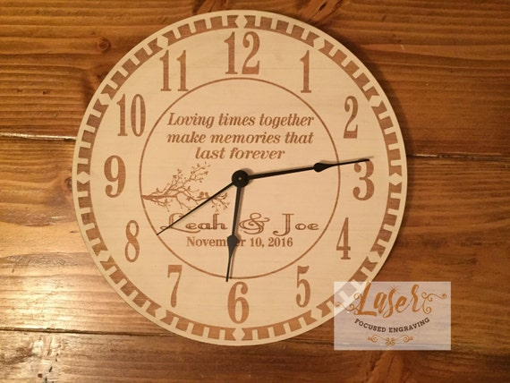 Clock Wedding Gift: Personalized Wedding Clock Anniversry Gift Home Decor