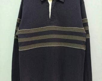 Rare!! L.L. Bean Striped Shirt Polo Sweater Sweatshirt Size S-M