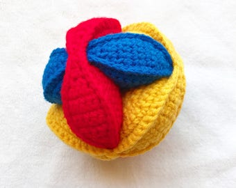 Puzzle Ball, Amish Puzzle Ball, Crochet Puzzle Ball, Amish Crochet Puzzle Ball, Baby Shower Gift, Baby Birthday Gift