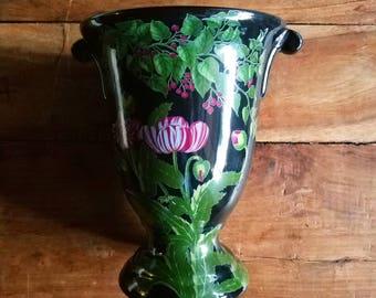 Vintage Hand Painted Vase, Barreveld Pottery, New York Botanical Garden, Barreveld, Botanical Vase, Flower Vase