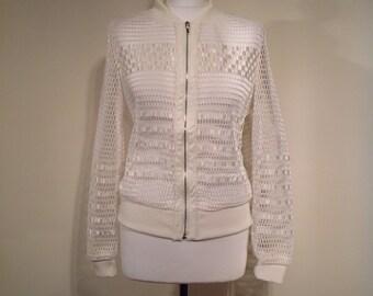 Woman boho jachet white outwear