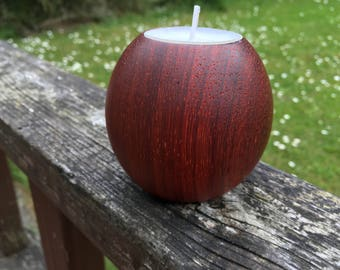 Padauk tealight holder